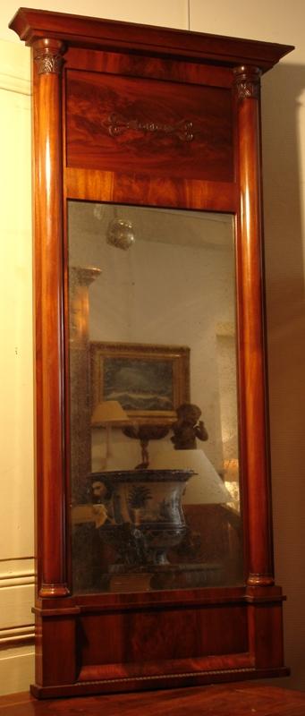 Trumeau De Style Empire En Acajou, XIX° Siecle