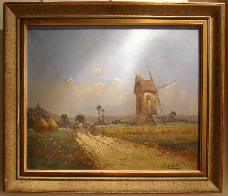 """Huile Sur Toile """"moulin à Vent """" d'Albert Hirtz"""
