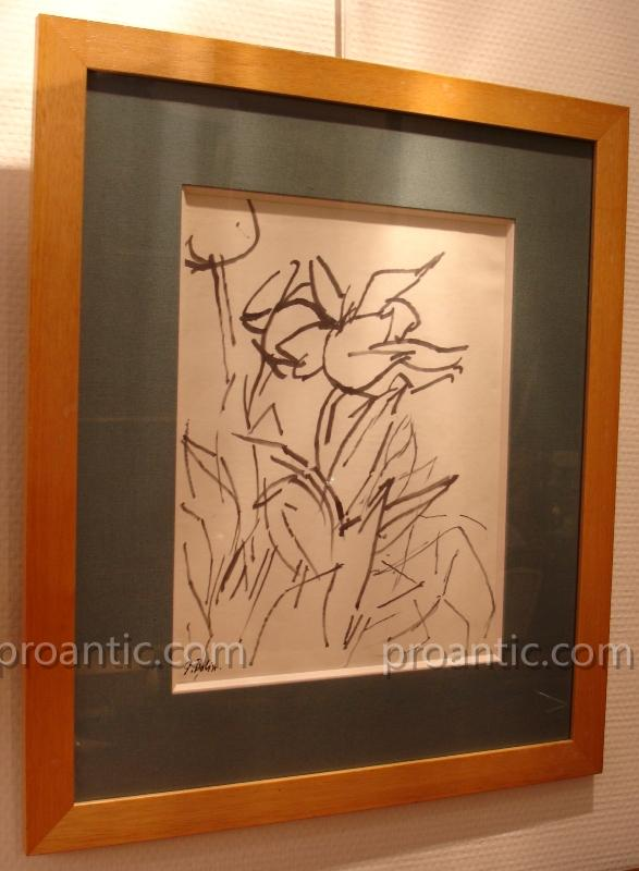 Abstract Drawing In Felt By Gustave Bolin