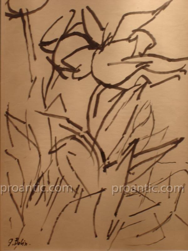 Dessin Abstrait Au Feutre De Gustave Bolin -photo-2