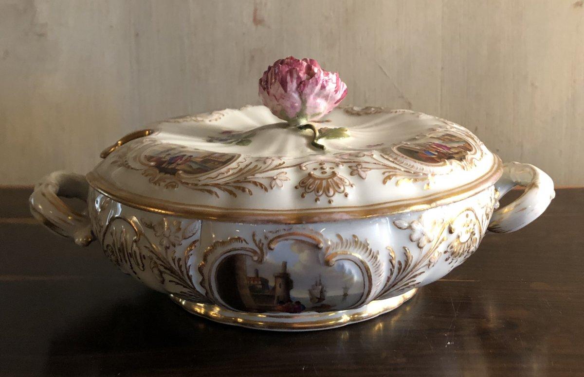 Bol à Bouillon En Porcelaine De Meissen