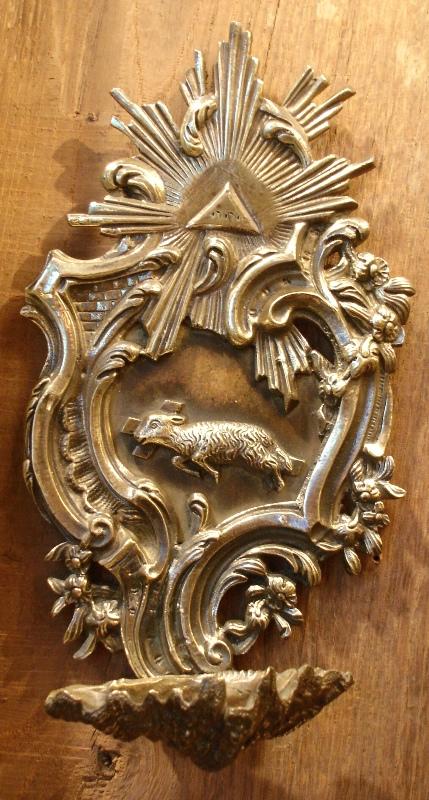 Stoup Louis XV Style Bronze XIX Century
