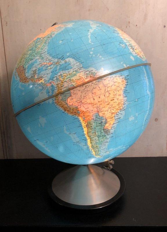 """globe terrestre lumineux """" Hercule"""" Edition Stauffacher"""