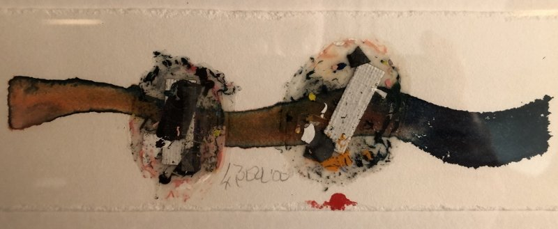 Mixed Media Signed Larry Bell 2000