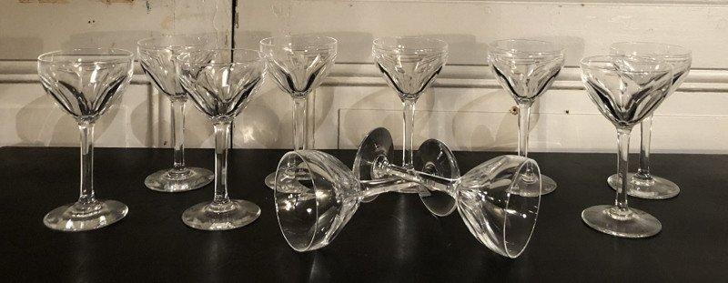 Suite De 10 Verres à Vin En Cristal Modèle Bristol De Saint Louis