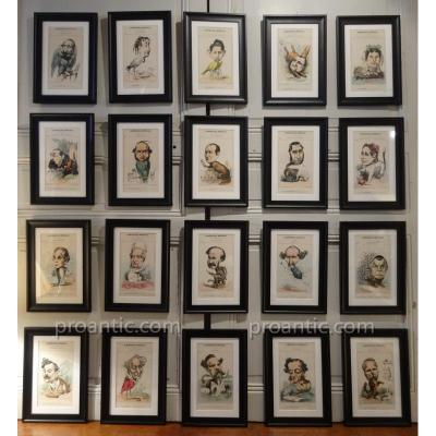 Suite 20 Boards De La Menagerie Framed Imperial, Nineteenth