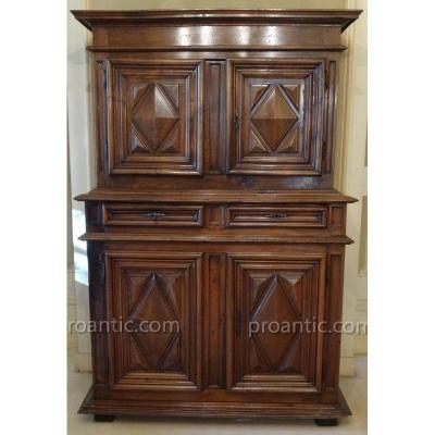 Buffet In Diminutive Louis XIV Style Walnut