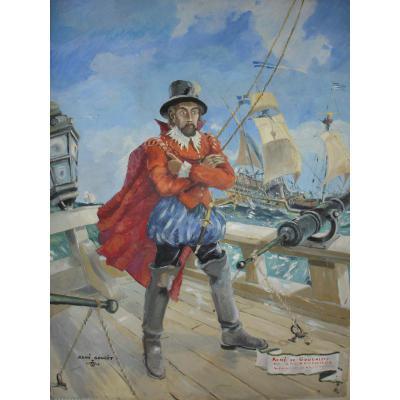 Painting René De Goulaine By René Goulet 1952
