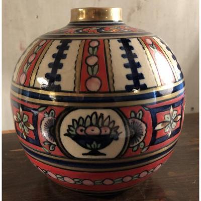 Vase Boulle Art-déco Alfred Renoleau