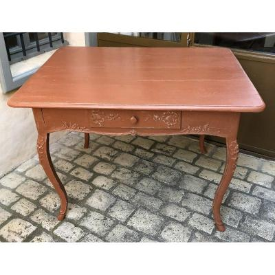 Regency Style Table In Lacquered Wood XVIIIth Century