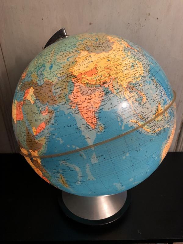 """globe terrestre lumineux """" Hercule"""" Edition Stauffacher-photo-2"""