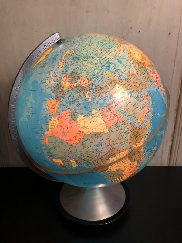 """globe terrestre lumineux """" Hercule"""" Edition Stauffacher-photo-3"""