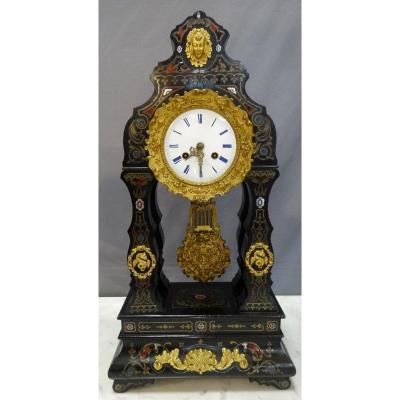 Napoleon III Pendulum In Boulle Marquetry