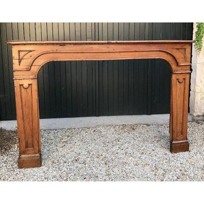 Louis XIV Fireplace In Carved Wood, Eighteenth Century