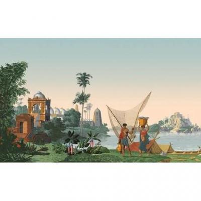 """Panoramique """"Hindoustan"""" Papier Peint De La Manufacture Zuber 20 Lés"""