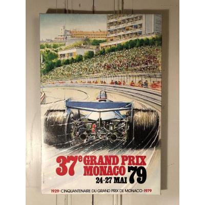 Affiche Grand Prix De Monaco 1979 d'Aprés Alain Giampaoli