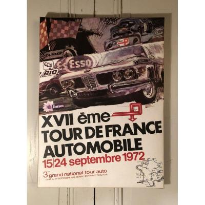 Affiche Originale Du 17° Tour De France Automobile 1972