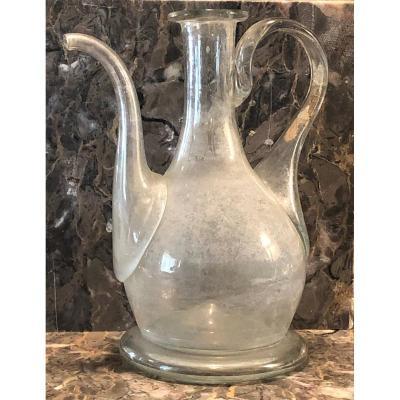 Oil Burette In Glass End Eighteenth Century