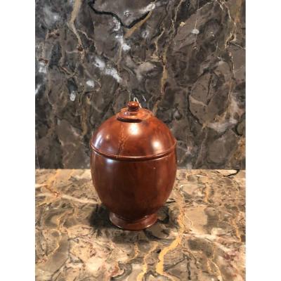 Pot Couvert En Noix De Corozo XIX° Siècle