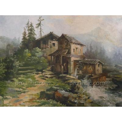 "Oil On Canvas ""in Mill Mountain"" Signed Paul Clarin"
