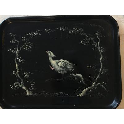 "Large Tray In Boiled Cardboard ""bird's-eye"""