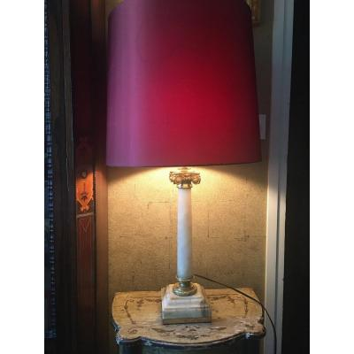 Marble And Gilt Bronze Lamp Early Twentieth Century