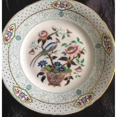 Douze Assiettes à Dessert Modèle «English Porcelain» De Lebeuf Et Millet Creil Et Montereau