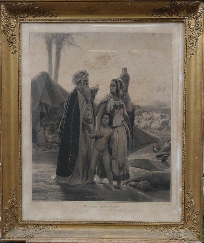 Abraham Returns Hagar, Engraving After Horace Vernet