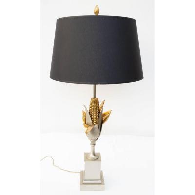 Corn Lamp Signed Charles