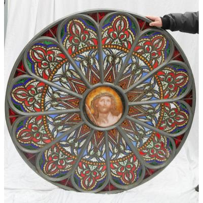 Stained Glass In Rosette