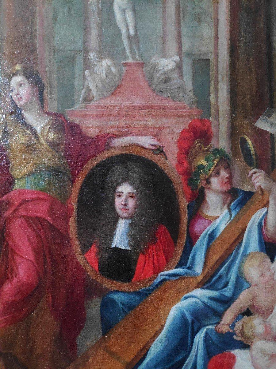 Rare Portrait Allégorique d'Un Parlementaire Du XVIIème Siècle-photo-1