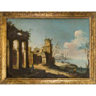 Apollonio Domenichini, Ex-maÎtre Des Vues De La Fondation Langmatt , Caprice Architecturale