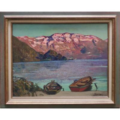 Joseph Victor Communal (1876-1962), Lac d'Aiguebelette