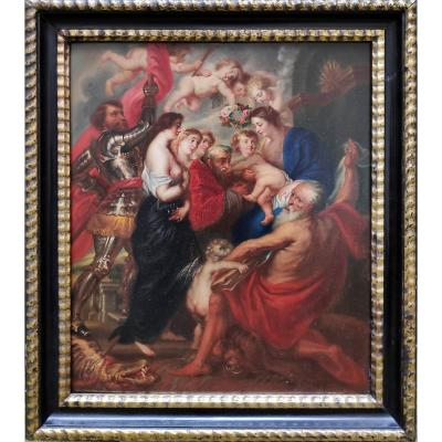 After Rubens (1577-1640), Virgin And Child Surrounded By Saints