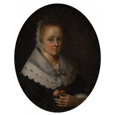 Workshop Of Gérard Ter Borch (1617-1681), Portrait, Oil On Copper