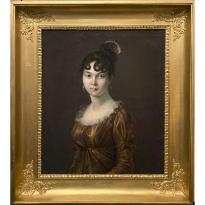 Entourage Du Baron Gérard (1770-1837), Portrait De Jeune Femme