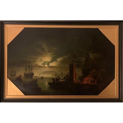 Claude-joseph Vernet (1714-1789), Suiveur De - La Nuit