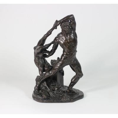 Hercule Et Lichas, D'après Antonio Canova (1758-1822), Bronze