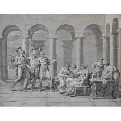 Ecole Française Néo-classique Vers 1800, Les Horaces, Dessin