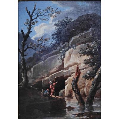 Entourage De Salvator Rosa (1615-1673), Soldats Dans Un Paysage