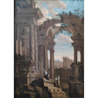 Atelier De Giovanni Paolo Panini (1691-1765), Scène De Ruines Animées