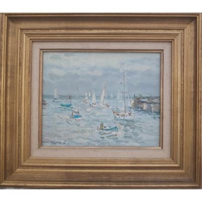Jean Rigaud (1912-1999) - Ile d'Yeu, Entrée Du Port