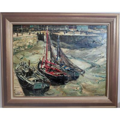 Jean Rigaud (1912-1999) - The Port Of Honfleur, Oil