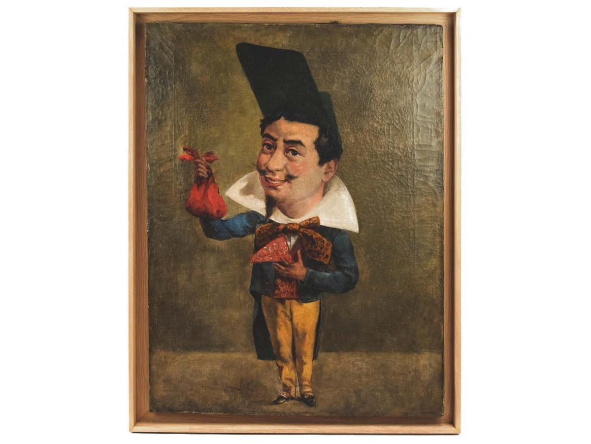 Armand Désiré Gautier, Caricature Oil On Canvas, Late 19th Century - Ls3574561