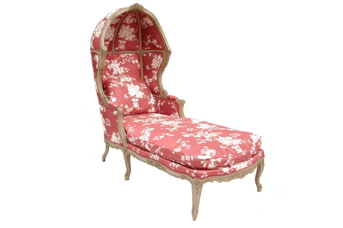 Duchesse à Capucine De Style Louis XV Laquée Gris Circa 1900 - LS29023301