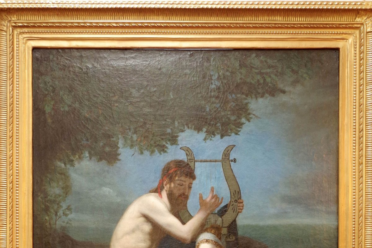 A.m. Roucoule, Painting, Orpheus And Eurydice, 1877 - Ls32182501-photo-2