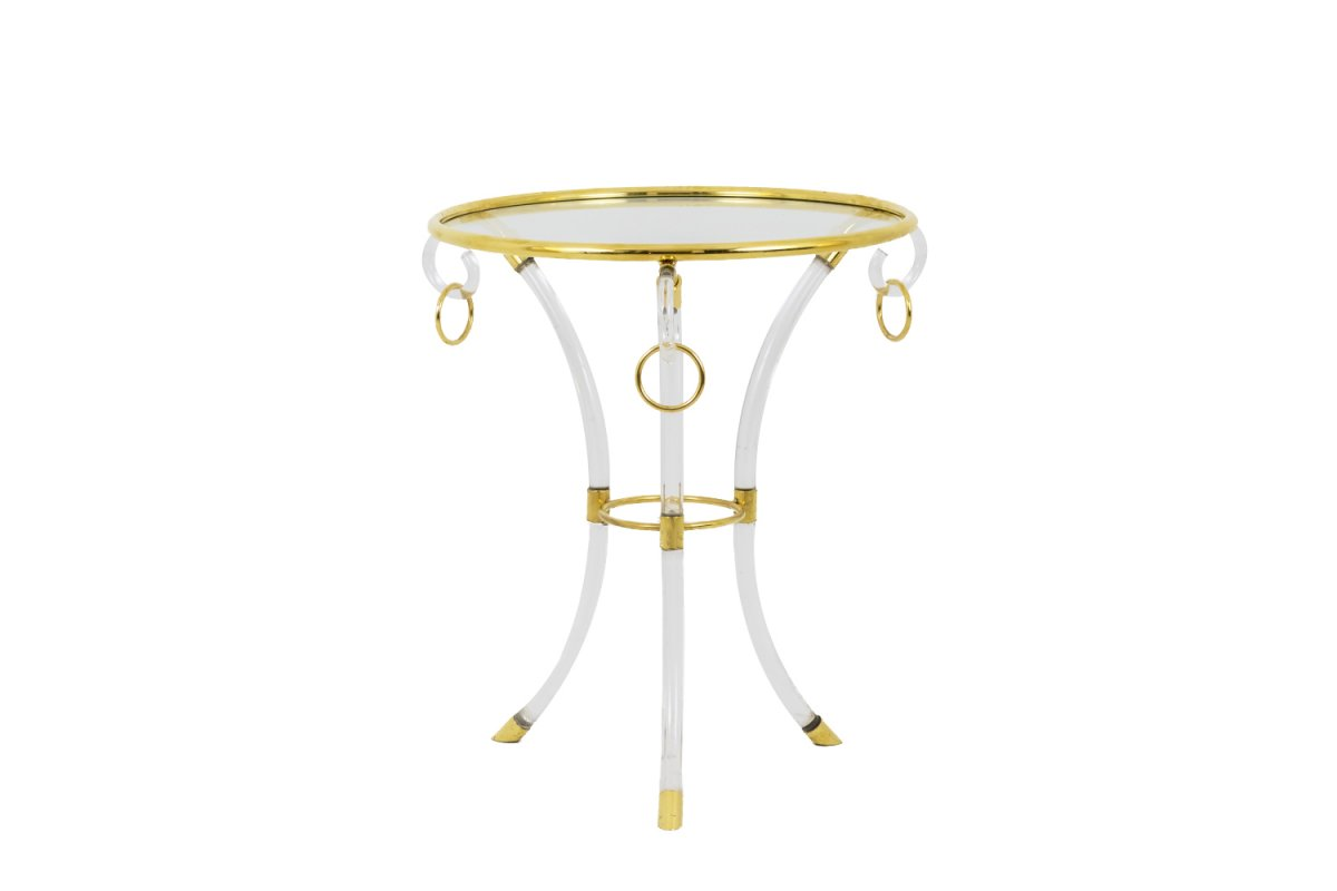 Hollis Jones, Directoire Style Stand In Lucite And Gilt Brass, 1970's - Ls4004541