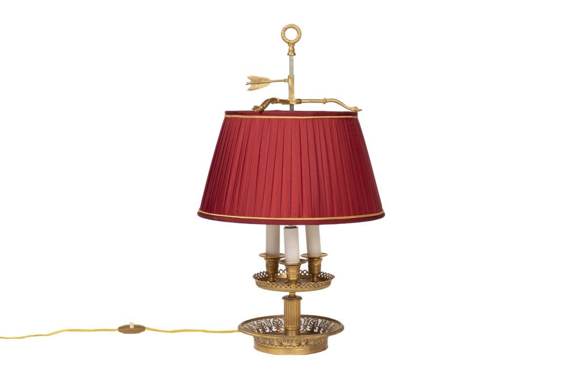 Restauration Style Bouillotte Lamp In Gilt Bronze, 1900 Period - Ls3054461
