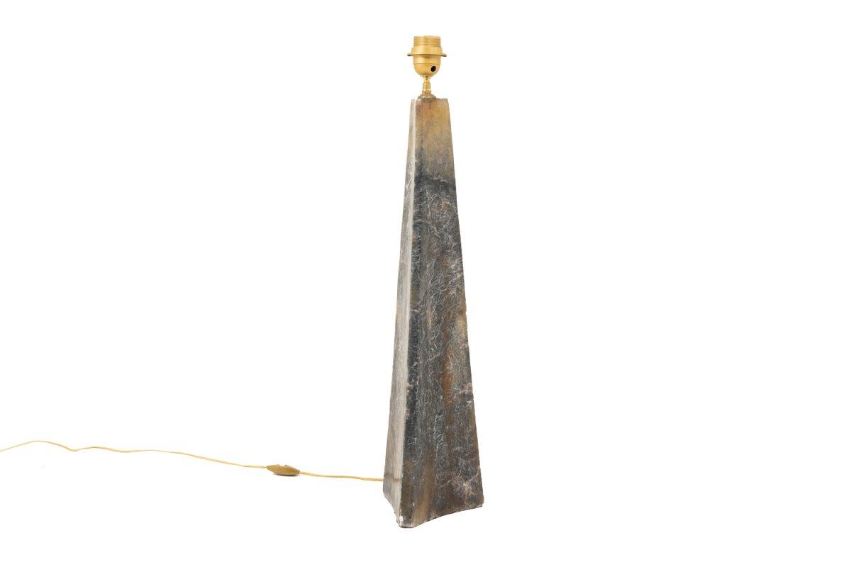 Lampe En Onyx De Forme Triangulaire, XXe Siècle - LS3247301