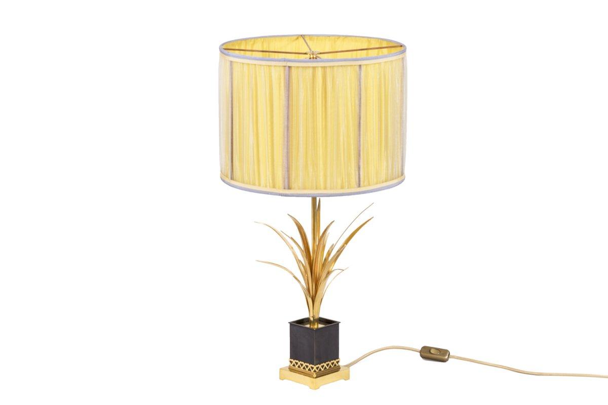 Maison Charles, Lampe Roseaux En Bronze Doré, Années 1970 - Ls4181551